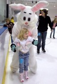 Ice Skating With the Easter Bunny
