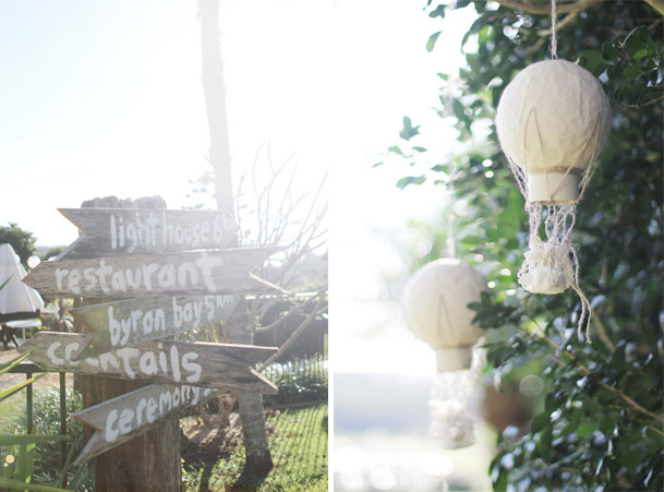 signs wedding mini hot air balloons