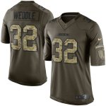 Green #32 Eric Weddle San Diego Chargers Men's NFL Nike Salute To Service Limited Jersey