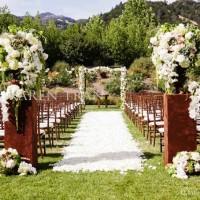 Outside wedding ceremony decoration ideas