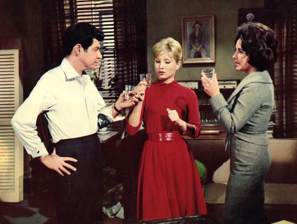 Eddie Fisher, Susan Oliver, Elizabeth Taylor,