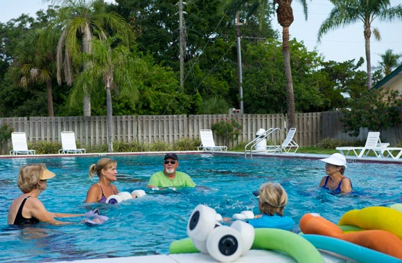 Aqua Classes in a Wonderful Outdoor Setting Year Round