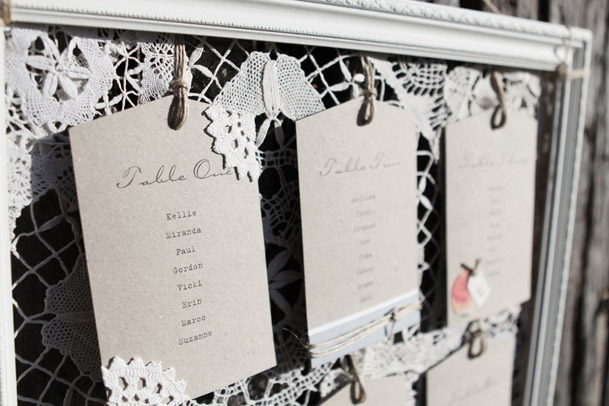 lace-kraft-table-seating chart framed
