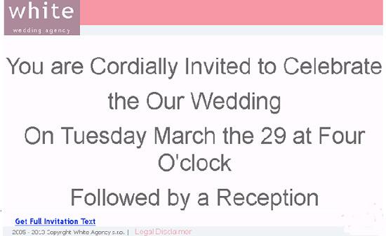wedding spam