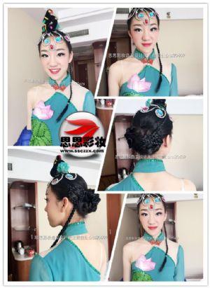 南京航空航天大学舞蹈表演艺考化妆盘发造型