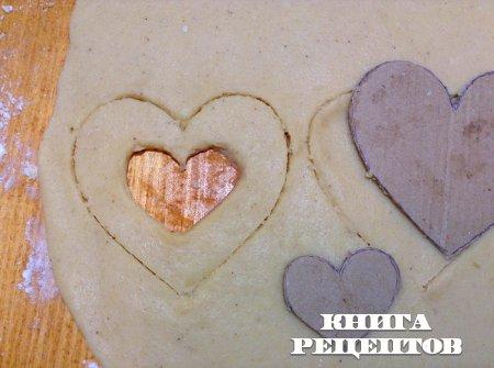 """Печенье """"Стеклянное сердце"""""""