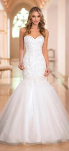 trumpet mermaid sweetheart wedding dress