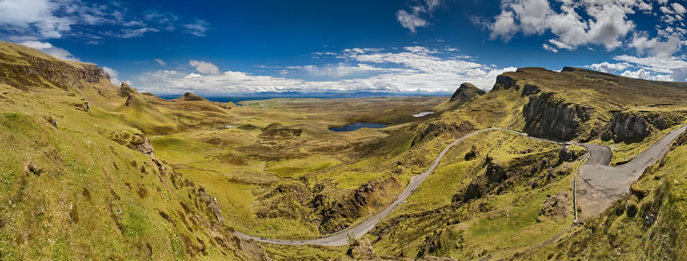 View from Quiraing to the Staffinbay, Isle of Skye, Scotland