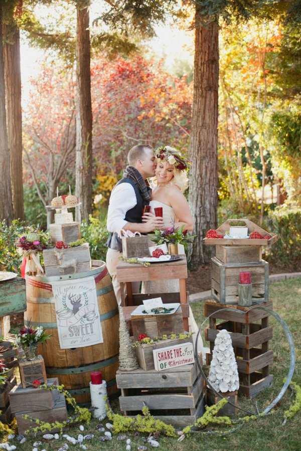rustic-christmas-wedding-ideas-bride-groom