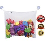Top Quality Bath Toy Organizer - Attachable as Baby Stroller Storage or Shower Caddy - Fit all Childrens Bathtub Toys - Hang Towel - Keeps Toys Dry and Mold Free - 2 Bonus Suction Cups With Hooks