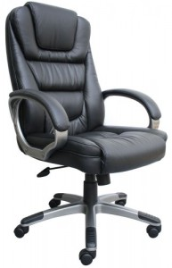 Boss Black Leather Plus Executive Chair