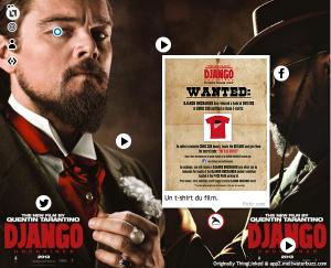 L'affiche interactive de Django Unchained