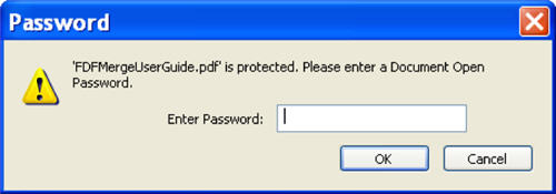 Document Open Password dialog
