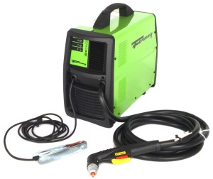Plasma cutter with internal air compressor