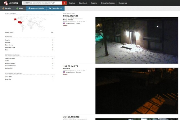 Security camera at shodan.io