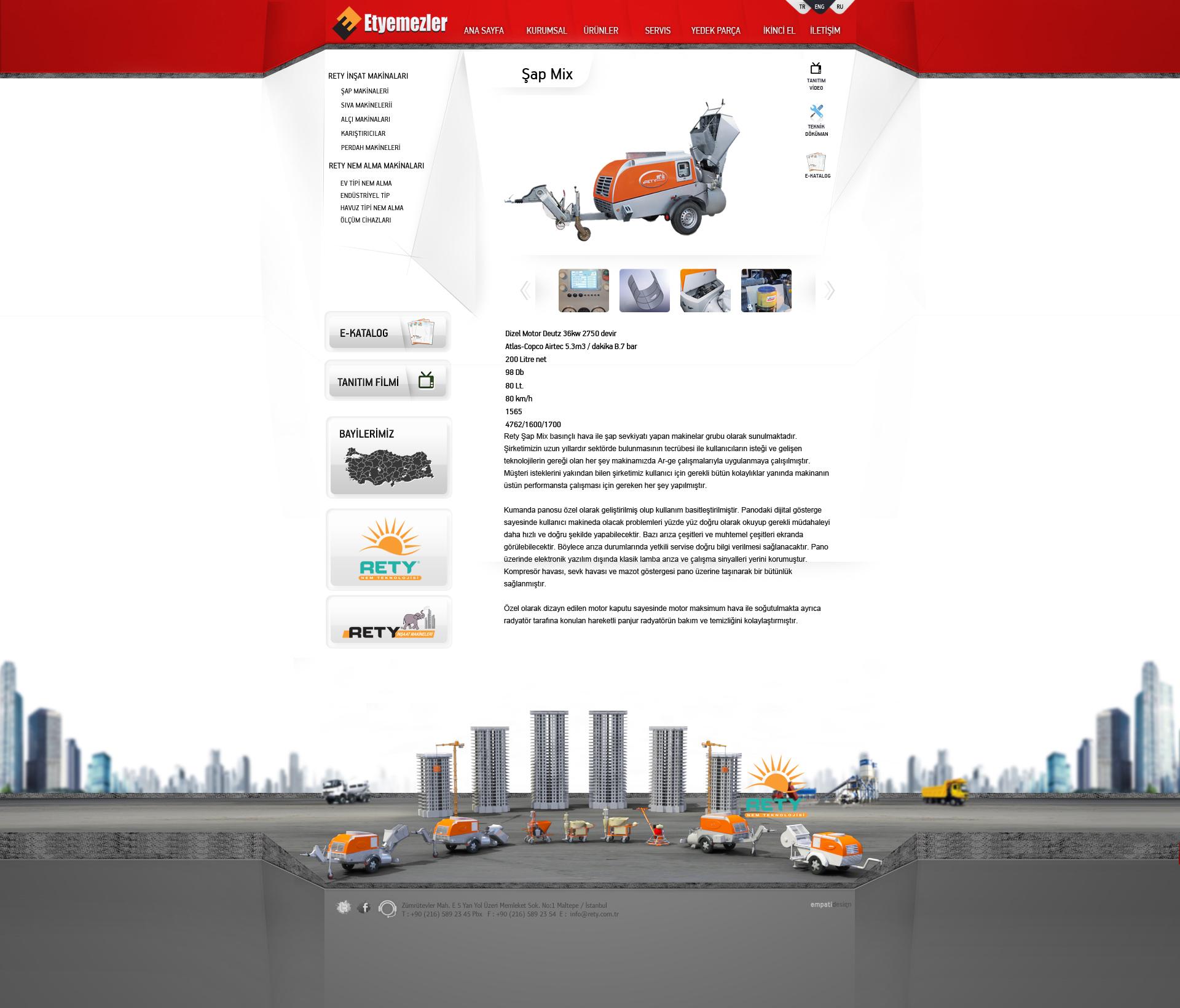 一款国外网站设计图分享 ETYEMEZLER公司网站设计效果图