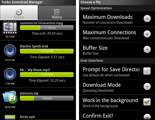 turbo download manager screenshots