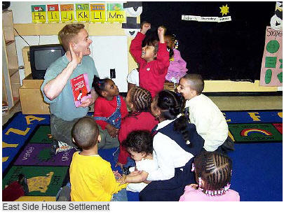 Preschoolers learning healthy lesson at East Side House Settlement