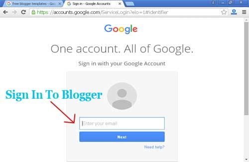 blogger account