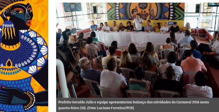 """Geraldo: """"Quero agradecer ao folião, que fez o mais bonito, o mais grandioso e o mais alegre Carnaval que o Recife já teve"""""""