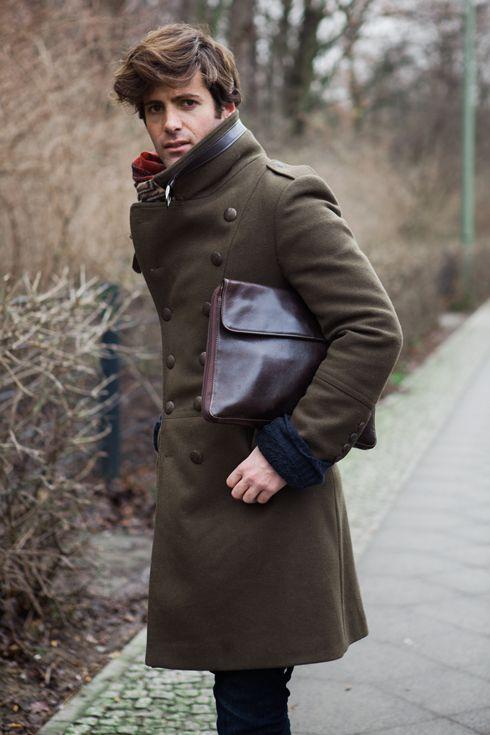 мужской кожаный клатч
