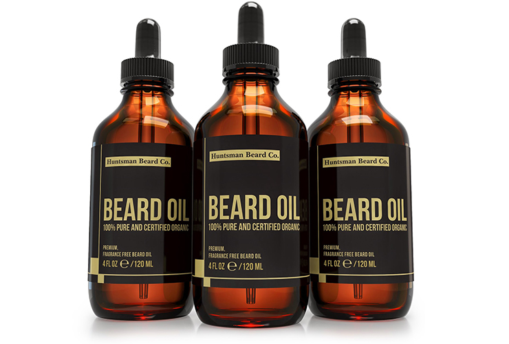 Beard Oil and Conditioner, Fragrance Free, Glass Bottle with Glass Dropper