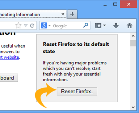 reset firefox to remove MyWay.MyWebSearch.com