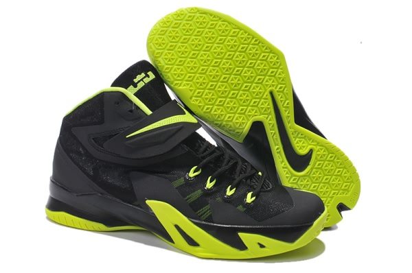 Nike Zoom Soldier VIII Black Green Basketball shoes