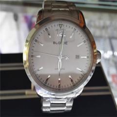 正品 百乔表-BLOJOE-B62带夜光男士机械商务手表 纯色白盘