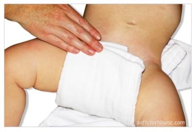 cloth diaper folding - prefold diaper into a cloth diaper wrap