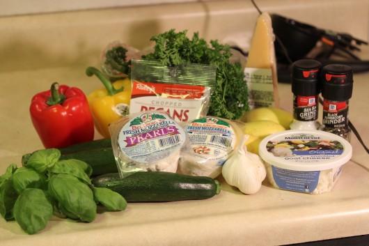 Grilled Veggie Pizza Ingredients