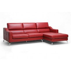 Hemah Luxury Leather Sectional in Red
