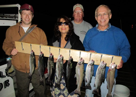 Double Anchor Night Fishing for Rainbow Trout
