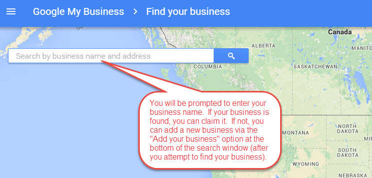 Google+ Find or Add location map