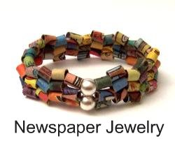 Newspaper Jewelry