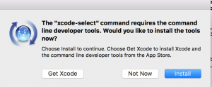 xcode-select --install