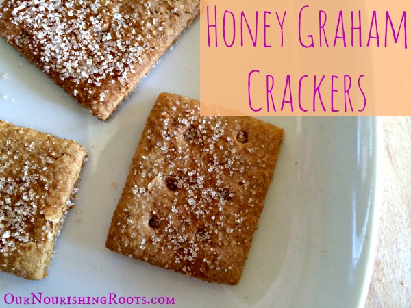 Honey Graham Crackers (whole grain, handmade, better than storebought) | OUR NOURISHING ROOTS