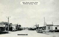 Main Street Looking West, Richland Springs, Texas 1930s