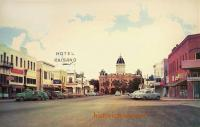 Street Scene and Courthouse, Marfa, Texas 1960s