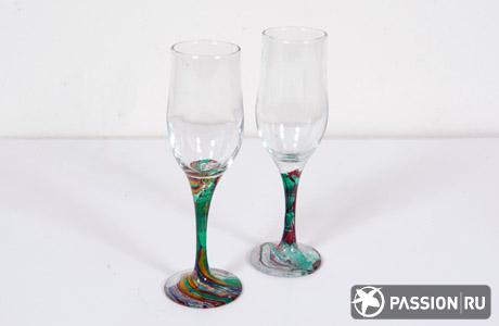 Мастер-класс по марморированию: бокалы под муранское стекло