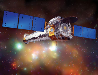 Artists concept of NASA's Chandra X-ray Observatory. Credit: CXC/NGST