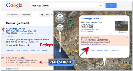 Google Maps Paid Search