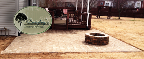 Spring Hill Tn Client Testimonial about a Landscaping project building a Belgard 3 piece patio with fire pit
