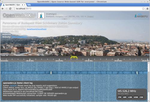 OpenWebRX Web Interface.