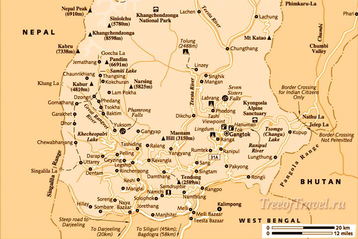 Сикким карта