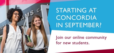 Starting at Concordia in September?