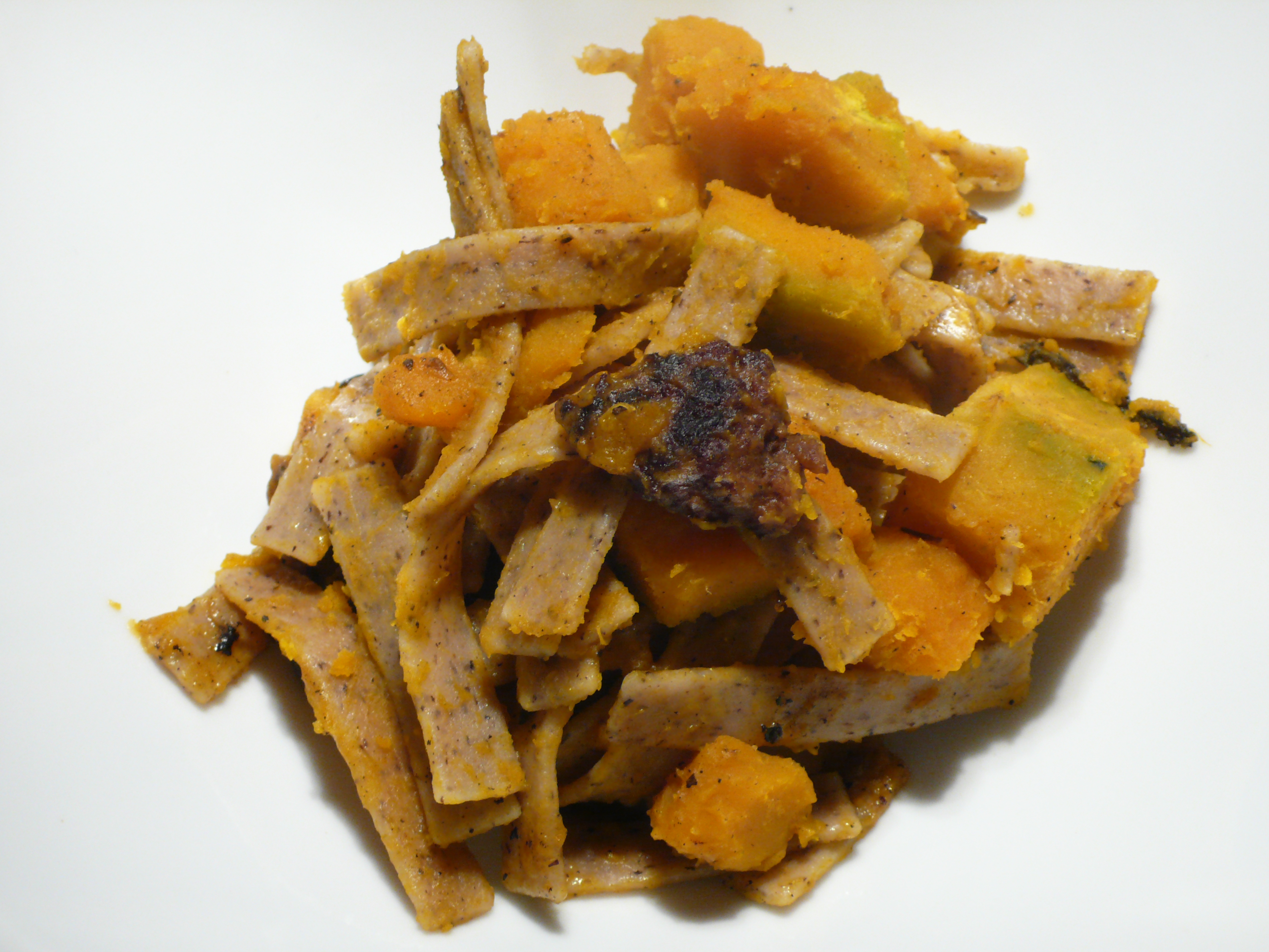 Sausage and butternut squash pizzoccheri