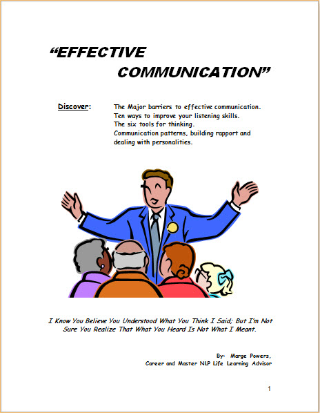 Effective Communication Cover