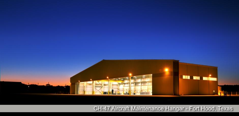 Solis Constructors,CH-47 Aircraft Maintenance Hangar - Fort Hood, Texas