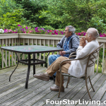 Residents sitting on the deck